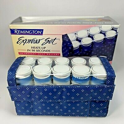 £14.51 • Buy Vintage Remington Travel Express Set Hot Rollers Hair Curlers Heated H1012 Box