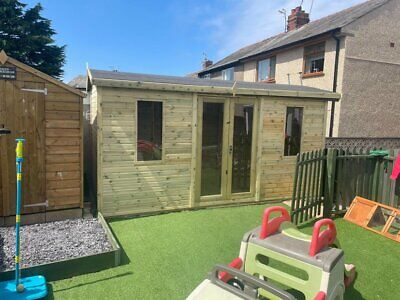 £2900 • Buy 14x8 Shed Summerhouse Cabin Workshop Man Cave Summer House Reverse Apex 16mm T&g