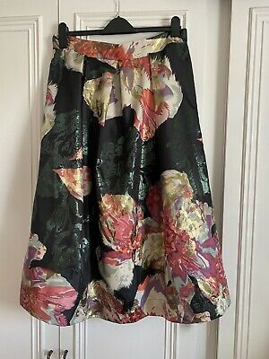 £14.95 • Buy Lorraine For JD Williams Black Floral Metallic 50's A Line Tulle Skirt Size 16