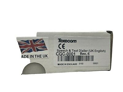 £65 • Buy Texecom Speech And Text Dialler CGC-0001 For Texecom Alarm Systems