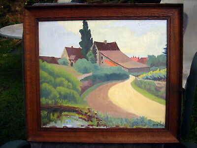 £112 • Buy Oil On Board Painting French Regional Landscape Les A****  ? Signed Keith Shaw