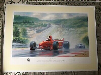 £50 • Buy Michael Schumacher  The Rainmaster  Limited Edition Print By Tony Smith