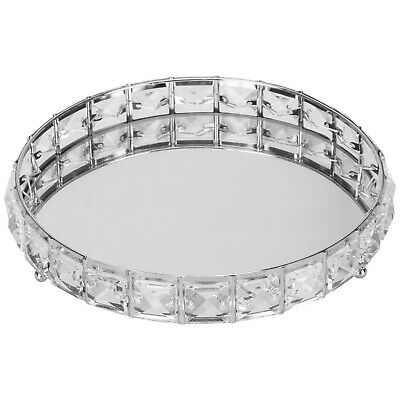 £13.99 • Buy Decorative Mirrored Tray  Tealight Candle Holder Plate  Vanity Perfume Tray 20cm
