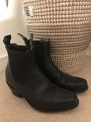 £39 • Buy RM Williams Cowboy Chelsea Western Ankle Boots Black Leather 7G 41 RRP £400