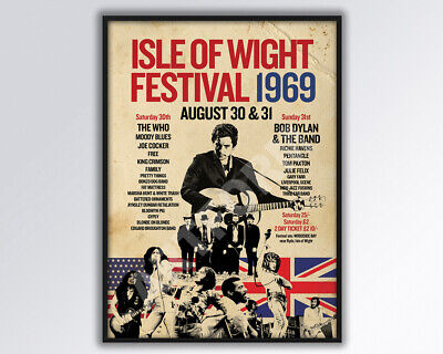 £14 • Buy ISLE Of WIGHT FESTIVAL 1969 Poster A3 Size.