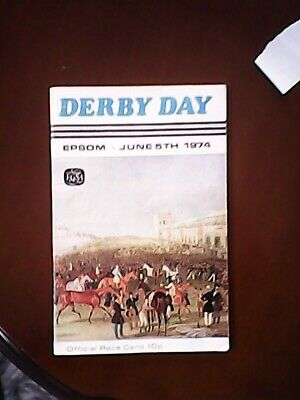 £45 • Buy Snow Knight 1974 Derby Stakes ( Beat Bustino )  - Epsom  Racecrd - Rare Item