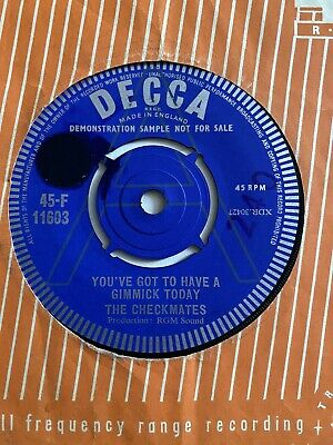 £2.53 • Buy The Checkmates. Joe Meek. You've Got To Get A Gimmick / West Point . Decca Demo