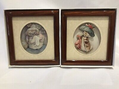 £26.99 • Buy 2 X Beatrix Potter Framed 3D Decoupage Picture By Living Pictures - Boxed - New