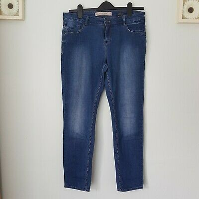 £16 • Buy Next Women's 5 Pockets Relaxed Skinny Everyday Blue  Jeans Size 14 R
