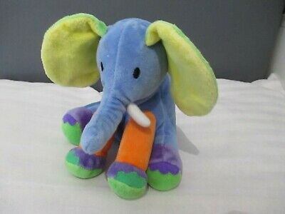 £3.50 • Buy Mothercare Rainbow Elephant Comforter Baby Toy Crinkly Ears Multi-Coloured Blue