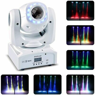 £79.99 • Buy 50W LED Moving Head, RGBW Stage Light DMX 512 With LED Ring Rainbow Lighting Eff