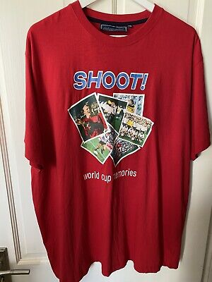 £9.95 • Buy SHOOT! Size XXL World Cup Memories Printed T Shirt, Red, Cotton, Football