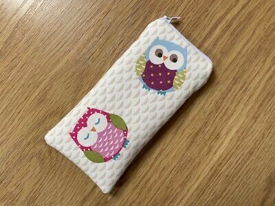 £5.65 • Buy Handmade Glasses Sunglasses Zipped Case Pouch Made With Fryetts Owls Fabric