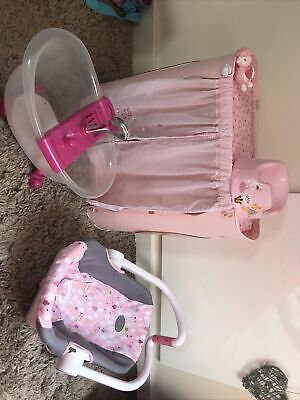 £15 • Buy Baby Born Bundle Car Seat, Potty, Bath And Changing Table