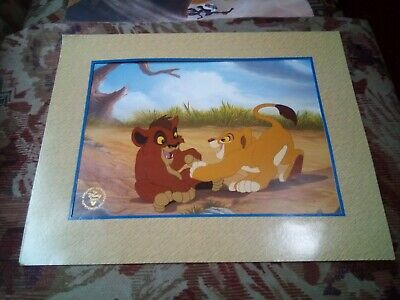 £5 • Buy The Lion King 2 Simba's Pride Commemorative Lithograph. The Disney Store Print.