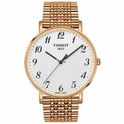 £189.99 • Buy Tissot Mens T Classic Watch,42mm Brand New Box Tags Instructions,Rose Gold Tone