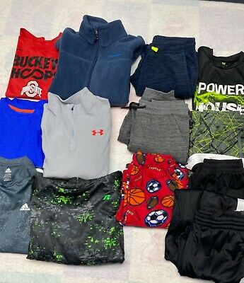 AU27.36 • Buy Lot Of Boy's Clothes Size 14/16 Columbia Adidas Under Armour Nike