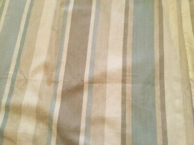 £38 • Buy Laura Ashley Blue Awning Stripe Curtains 62 X 53 Inches