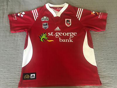 AU125 • Buy NRL ST GEORGE DRAGONS - X-LARGE - 2008 ADIDAS - Rugby League Jersey