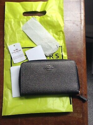 £22 • Buy Authentic Grey (Pewter) Coach Leather Purse Used
