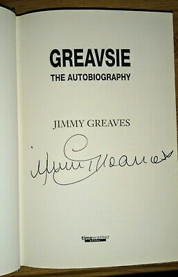 £25 • Buy Jimmy Greaves Signed Book Autobiography Greavsie Tottenham Mint Never Read Spurs