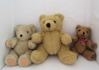 £9.99 • Buy Jointed Bears X 3 Applause X 1 17cm , 1 X 12.5cm,  1 X 16cm  Suitable For Craft