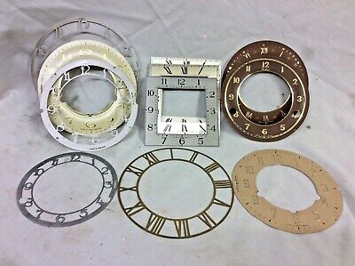 £1 • Buy Various Clock Dials, Some New Old Stock, No Reserve, Good Stock Items.