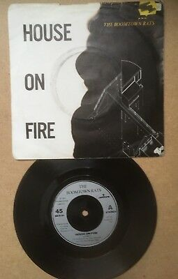 """£0.99 • Buy The Boomtown Rats - House On Fire. 80s New Wave / Punk. 7"""" Single Vinyl Record"""