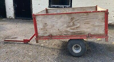 £195 • Buy Quad Bike / Atv Trailer - Steel Bed 6'x4' With Removable Sides
