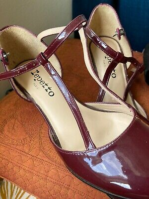 £30 • Buy Repetto Size 38 Unworn Dark Cherry Patent Leather Dancing Shoes With Ballet Carr