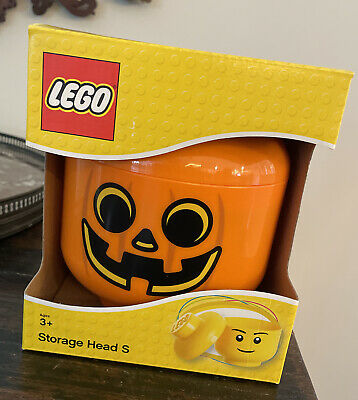 £13.16 • Buy LEGO Storage Head Small Size Pumpkin Container New In Box