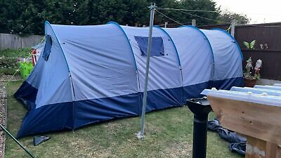 £64 • Buy Charles Bentley Odyssey 6 Person Navy Blackout Tent Bedroom Living Sections