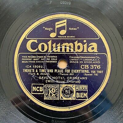 £7.32 • Buy 78 RPM Savoy Hotel Orpheans Al Bowlly  Sweet And Lovely  Columbia CB 376 Scarce