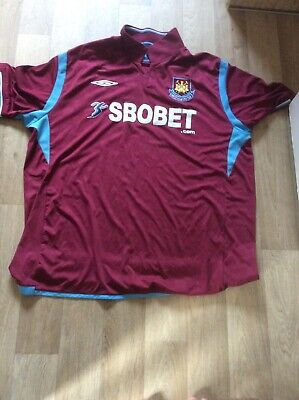 £20 • Buy 2009 - 2010, West Ham United, Home Football Shirt By Umbro, Adult 2xl