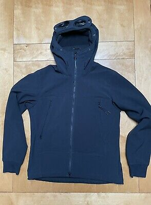 £80 • Buy Cp Company Black Soft Shell Goggle Jacket Medium, Excellent Condition
