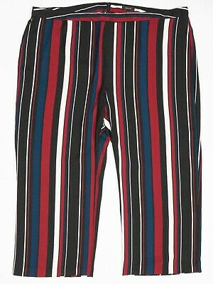 £18.99 • Buy River Island Trousers 28 Black Red Striped Wide Leg Palazzo Pants