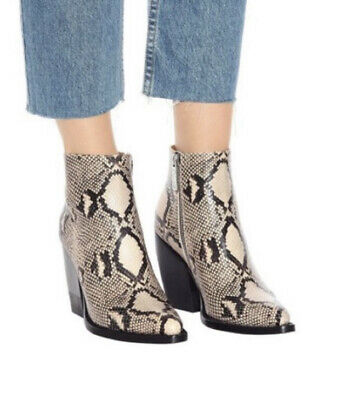 £201.17 • Buy Chloe Rylee Snake-effect Leather Boots 39