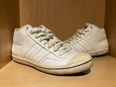 £13 • Buy Adidas Vespa Mens Mid Trainers White Leather G51532 - Size UK 7 EUR 41