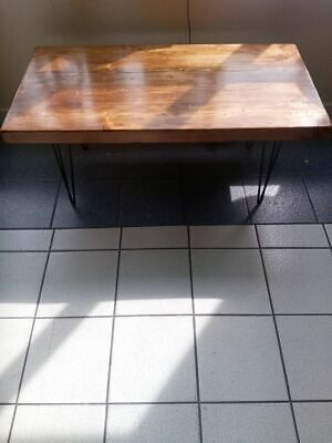 £350 • Buy New Upcycled Industrial Oak Sleepers Hairpin Table L 46 1/2  X H 20 1/2   X W23