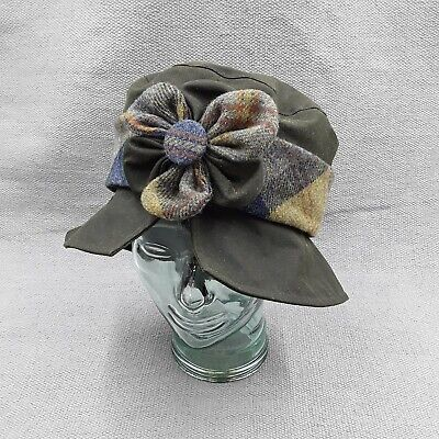 £35 • Buy Olney Country Collection Verna Wax & Tweed Flower Ladies' Cloche Hat In Olive