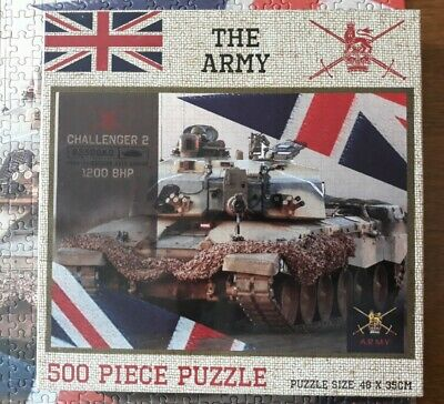 £2 • Buy The Army 500 Piece Jigsaw Puzzle Complete