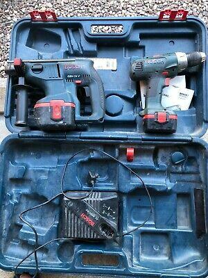 £60 • Buy Bosch Drill Set 1 X 18v Combi Drill And 1 24v SDS Drill With Case