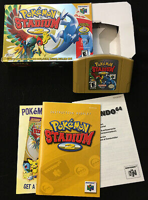 $82 • Buy Pokemon Stadium 2 (64, 2001) - Box & Instruction Manual Included - Pre-Owned