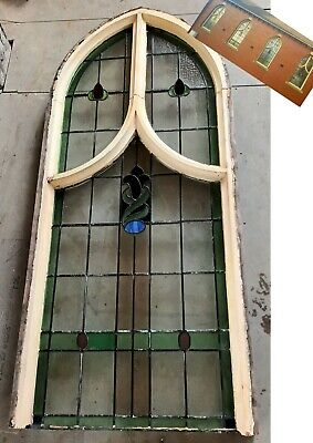 £260 • Buy Original Antique Leaded Stained Glass Arched Church Window (more Available)