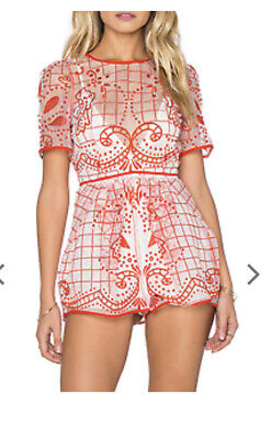 AU50 • Buy Alice Mccall Heart Of Gold Red Playsuit Size 6