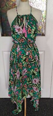 £15 • Buy M&S Collection Beachwear, Green Tropical Floral Strappy Dress, Size 10