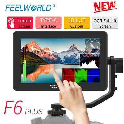 AU202.02 • Buy FEELWORLD F6 PLUS 5.5 Inch On Camera DSLR Field Monitor 3D LUT Touch Screen IPS