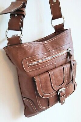 £16 • Buy M & S Autograph Tan Genuine Real Leather Crossbody Bag Excellent Condition