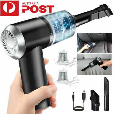 AU26.39 • Buy Car Vacuum Cleaner Cordless Handheld Rechargeable Portable Mini For Home Wet Dry