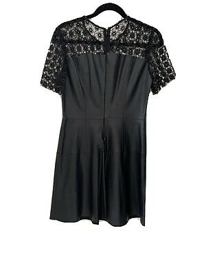 £5 • Buy Zara Lace And Leather Dress Size 12